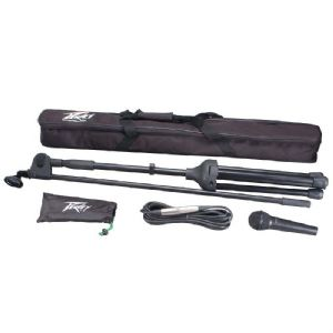 Peavey PV MSP1 Vocal or Instrument Microphone + Mic Stand + Xlr Lead + Bag +Clip